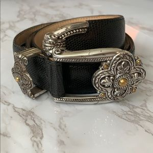 Brighton Silver Embossed & Intricate Designed Belt